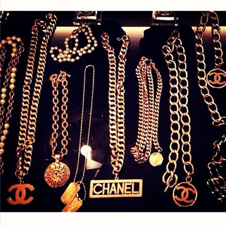 Rihanna shows off serious Chanel bling