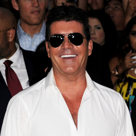 Simon Cowell and Demi Lovato at X Factor US Season 2 premiere