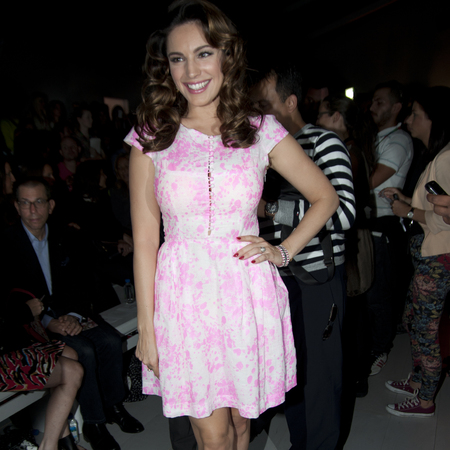 Kelly Brook at London Fashion Week