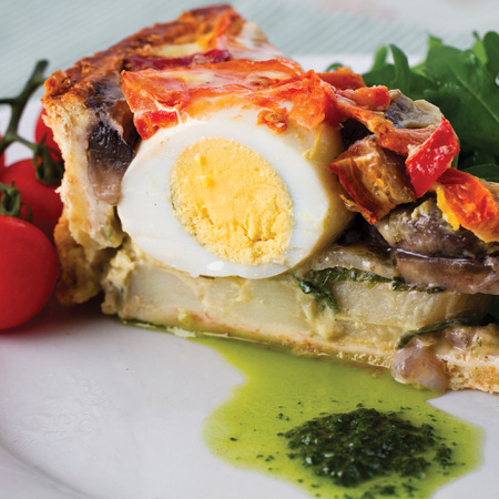 Surf cook book veggie breakfast pie