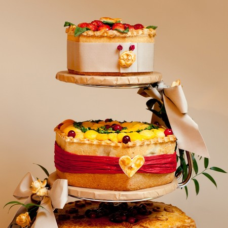 Ginger pig pork pie wedding cake