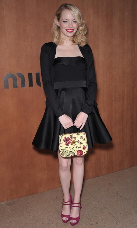Celebrities carrying Miu Miu handbags