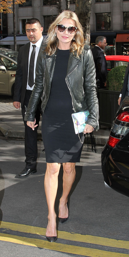 BEST KATE MOSS MOMENTS: Leather at Paris Fashion Week