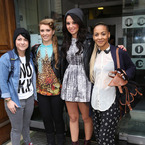 Tulisa hits Radio 1 with X Factor girls