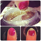 NAIL HOW-TO: Glitter tips with Frontcover