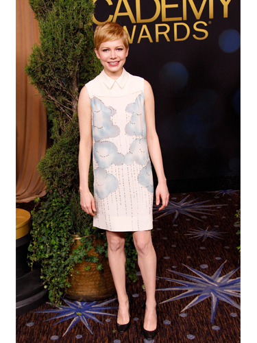 Michelle Williams wearing Victoria Beckham