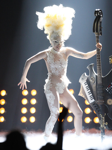 Performing at the Brit Awards, February 2010
