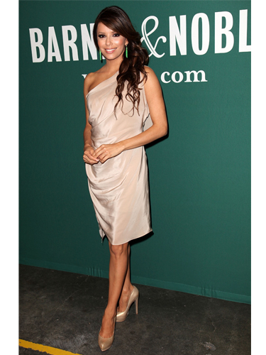 Eva Longoria wears Victoria Beckham dress