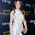 Hailee Steinfeld does futuristic silver in Prabal Gurung at Young Hollywood Awards