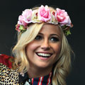 Pixie Lott works a Rock 'N Rose flower headband at Cornbury Music Festival