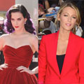 This week's best dressed with Katy Perry and Blake Lively in siren red
