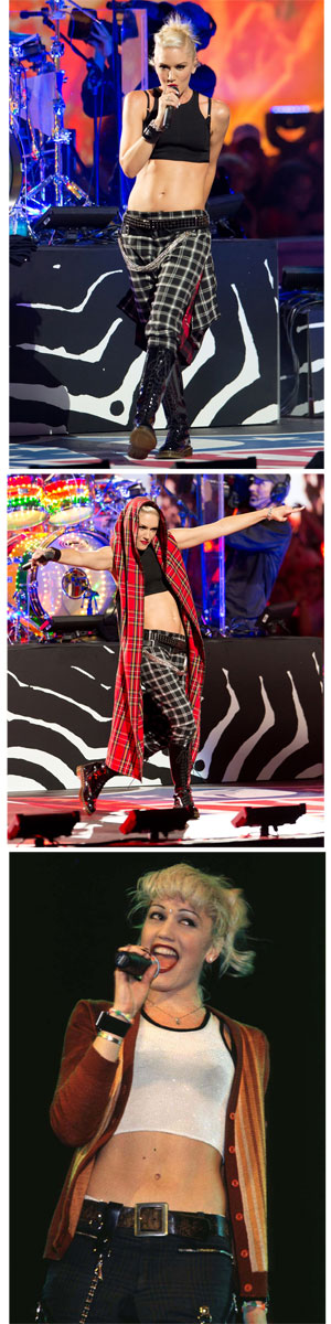 Ab hero of the day: Gwen Stefani shows off her AMAZING stomach