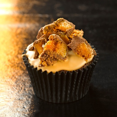 Bonfire night cinder toffee cupcakes