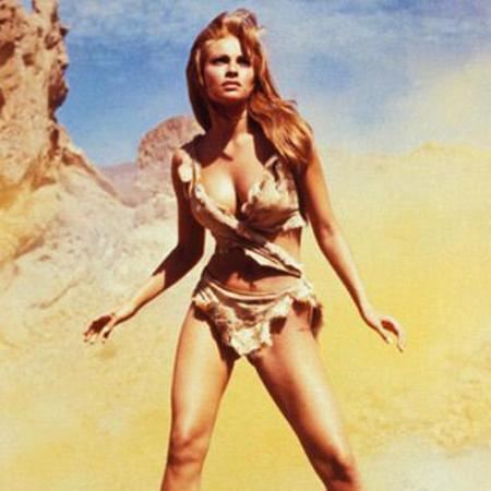 Raquel Welch in one million years BC - cave woman - ancestors - iconic women - bikini - beautiful women - celebrities - handbag.com