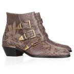 SHOP! Chloe studded python boots