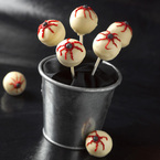Halloween eyeball cake pops recipe