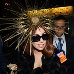 Lady Gaga goes black and gold at Harrods
