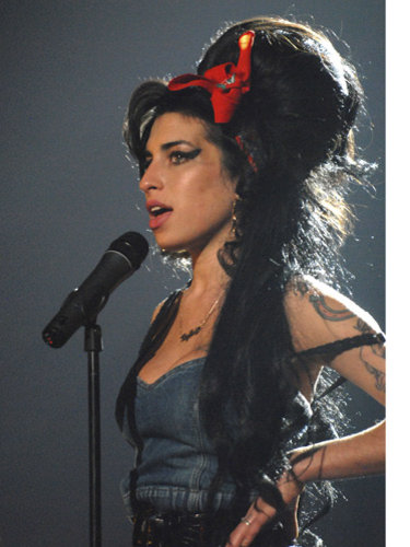 Amy Winehouse's hairstyle