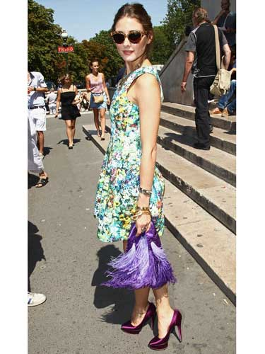 Olivia Palermo's floral day dress