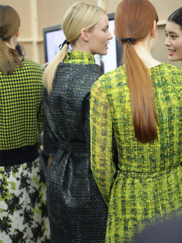Marc Trinder, Creative Manager at Charles Worthington, was backstage at Erdem