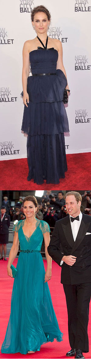 This week's best dressed feat Kate Middleton & Natalie Portman