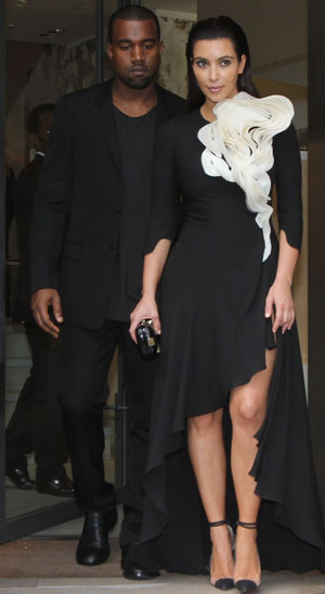 Kim and Kanye do matching black at Fashion Week