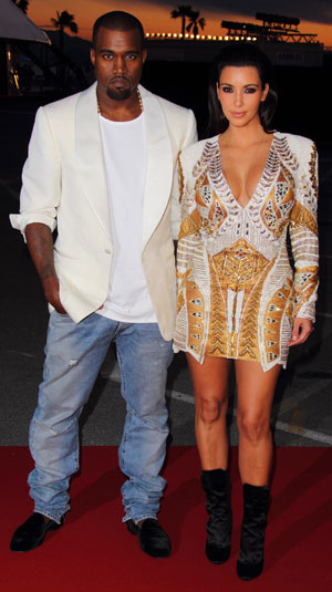Kim and Kanye do white and gold