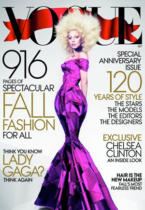 Lady Gaga leaks her Vogue US September cover on Twitter