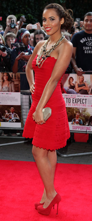 Rochelle Humes in a mini dress