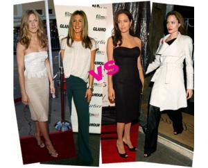Fashion face-off: Jennifer Aniston vs Angelina Jolie