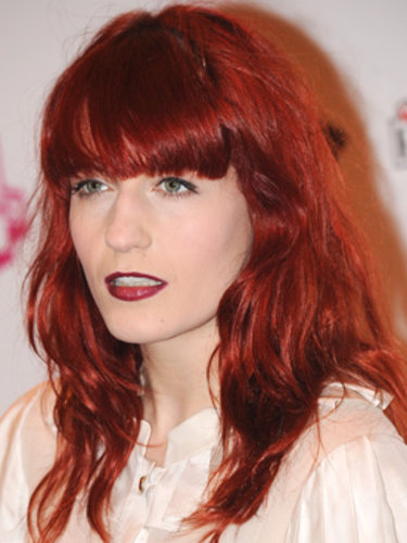 Florence Welch's cherry red hair