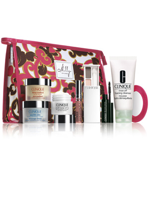 Designer make-up bag free with Clinique