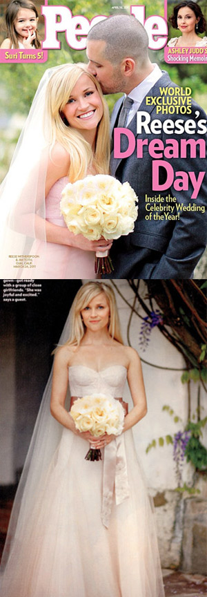 reese witherspoon married reese witherspoon first wedding dress