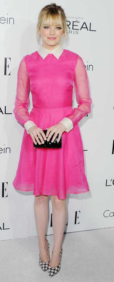 Fuchsia pink Valentino dress