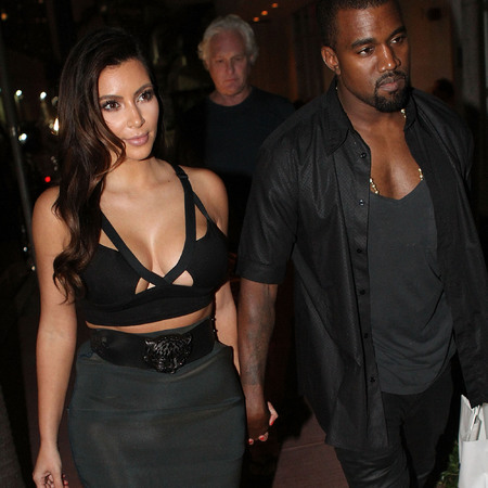 Kim Kardashian and Kanye West in Miami 14 Oct 2012