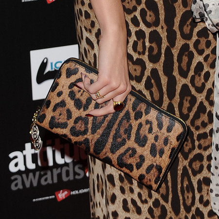 Pixie Lott Dolce & Gabbana dress and clutch