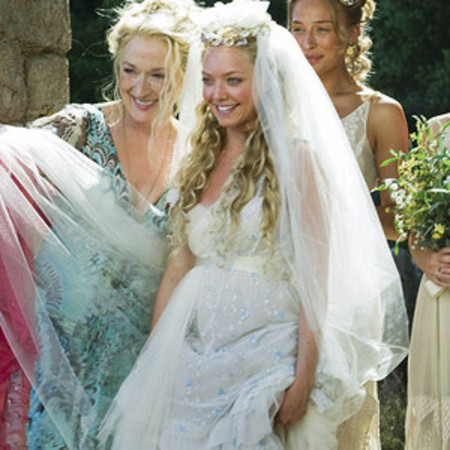 Amanda Seyfried's wedding dress in <em>Mamma Mia</em>