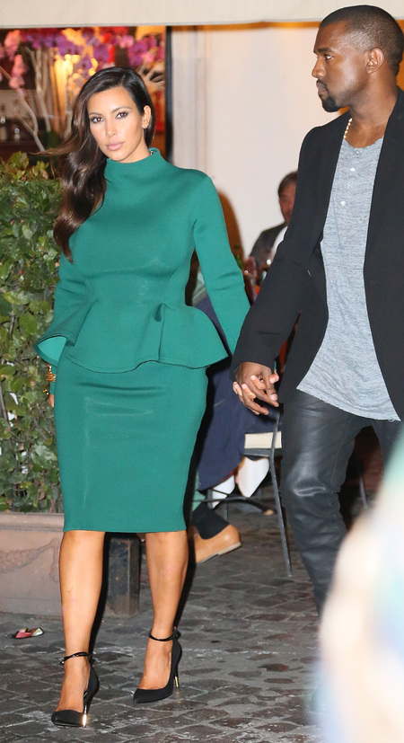 Kim Kardashian and Kanye West in Rome for Kim's 32nd birthday