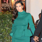 YAY OR NAY: Kim Kardashian's high neck peplum dress