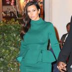 YAY OR NAY: Kim Kardashian's high neck peplum dress