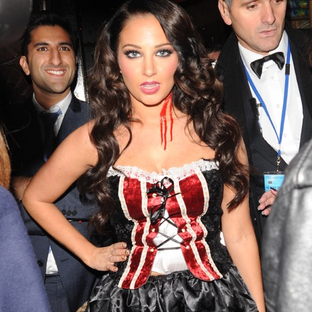 Tulisa in Halloween costume at Rylan Clark birthday