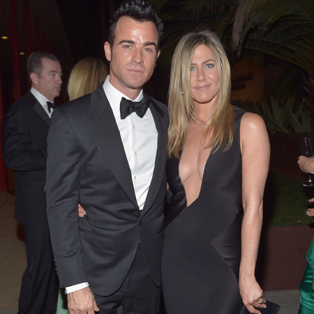 Justin Theroux and Jennifer Aniston attend LACMA 2012 Art + Film Gala Honoring Ed Ruscha and Stanley Kubrick presented by Gucci