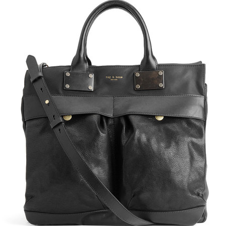 Rag and Bone LARGE PILOT BAG BLACK