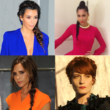 Celebrity Trend, plaits and braids, Kim Kardashian, Nicole Scherzinger. Victoria Beckham, Florence Welch
