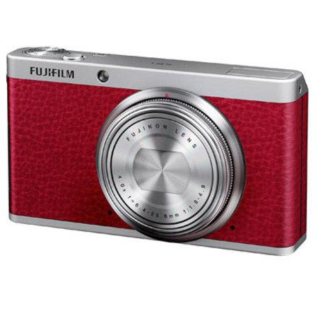 red fuji film camera
