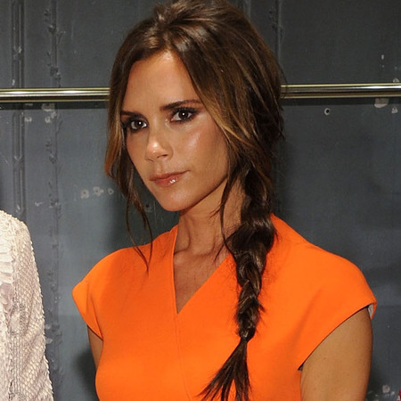 Victoria Beckham's side plait