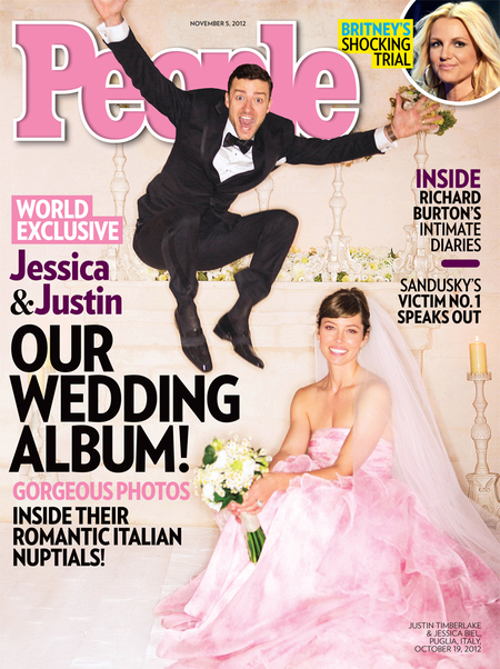 Justin Timberlake and Jessica Biel wedding photos