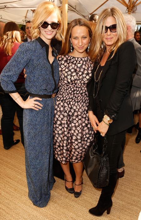 Jennifer Aniston, January Jones, Jennifer Meyer at CFDA Vogue Fashion Fund Event OCT 2012
