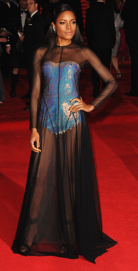 Naomie Harris's sheer Marios Schwab dress