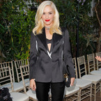 Gwen Stefani suits up in monochrome